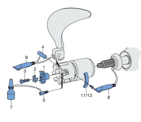 Installation Hardware  -  2 blade folding Propeller
