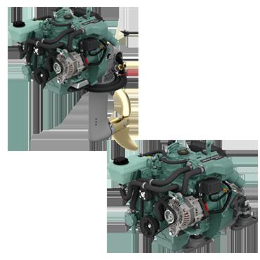 Compact sailboat engines